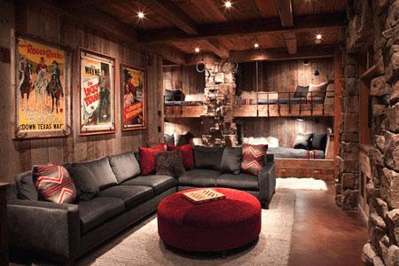 Log cabin staging